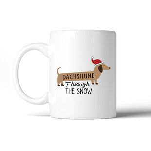 Mcculley Dachshund Through the Snow Coffee Mug