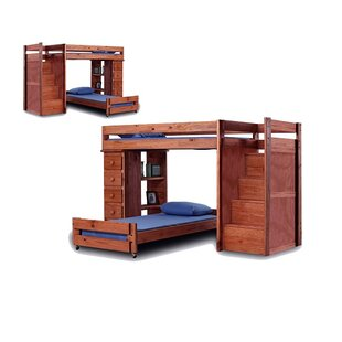 Cisneros Staircase Twin Over Twin Bunk Bed