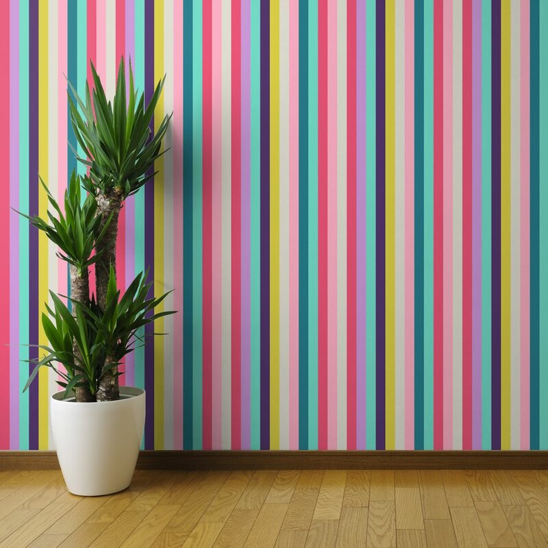 Filsinger+Colorful+Stripes+Removable+Peel+and+Stick+Wallpaper+Roll