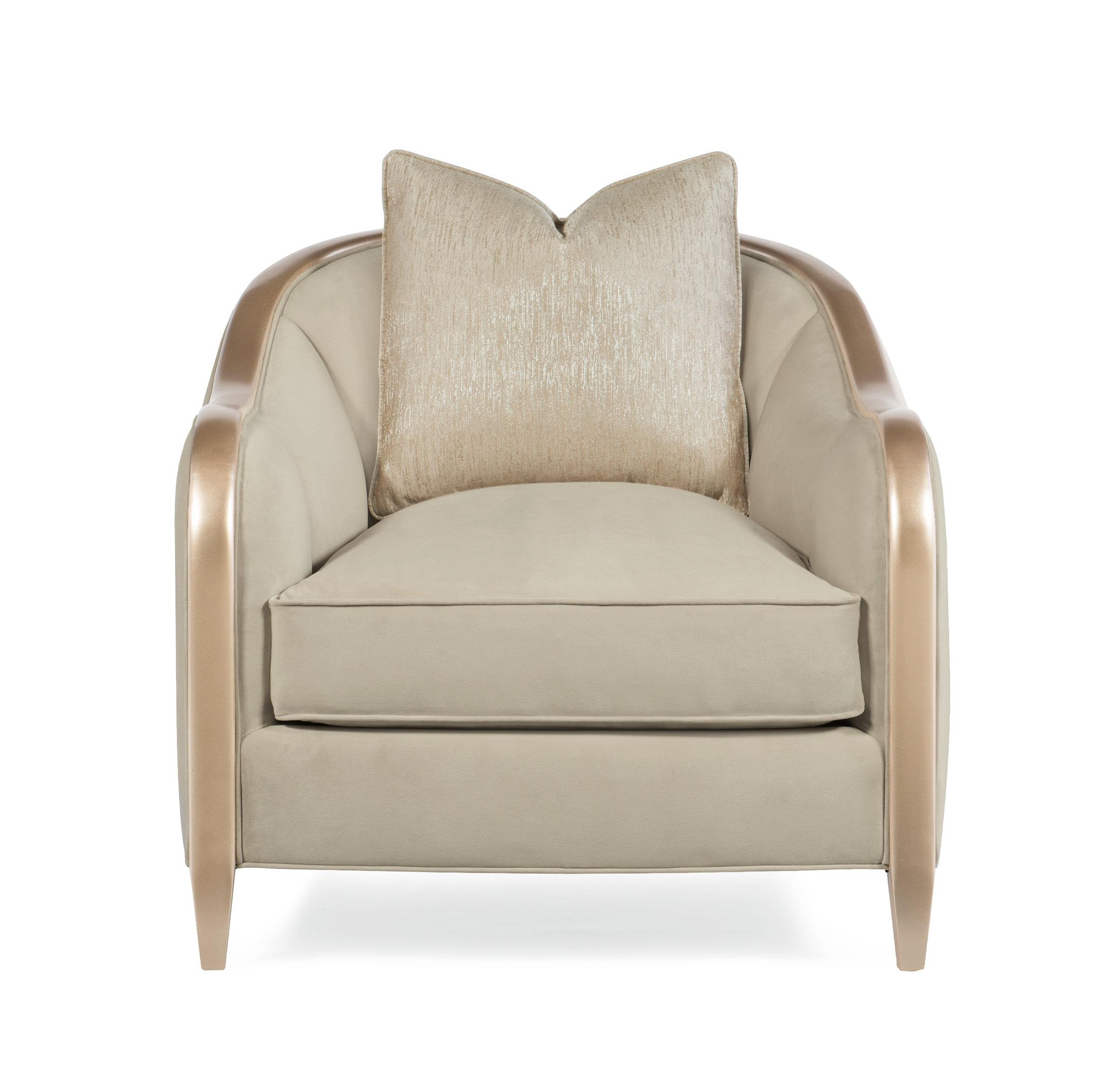 Caracole Compositions Adela 34 W Tufted Cotton Blend Down Cushion Armchair Wayfair