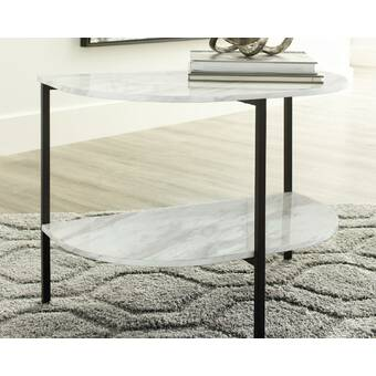 17 Stories Cleasby Glass Top Frame End Table Wayfair