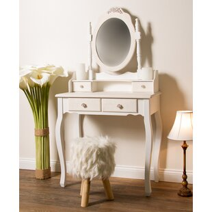 Dressing Table With Mirror By Lily Manor