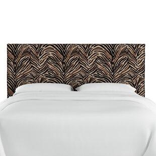 Genevie Slipcover Washed Zebra Upholstered Panel Headboard