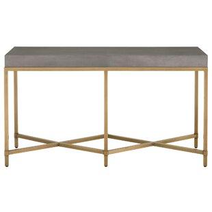 Gracie Oaks Ormside Shagreen Console Table
