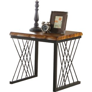 Maggie Metal Frame Wooden End Table