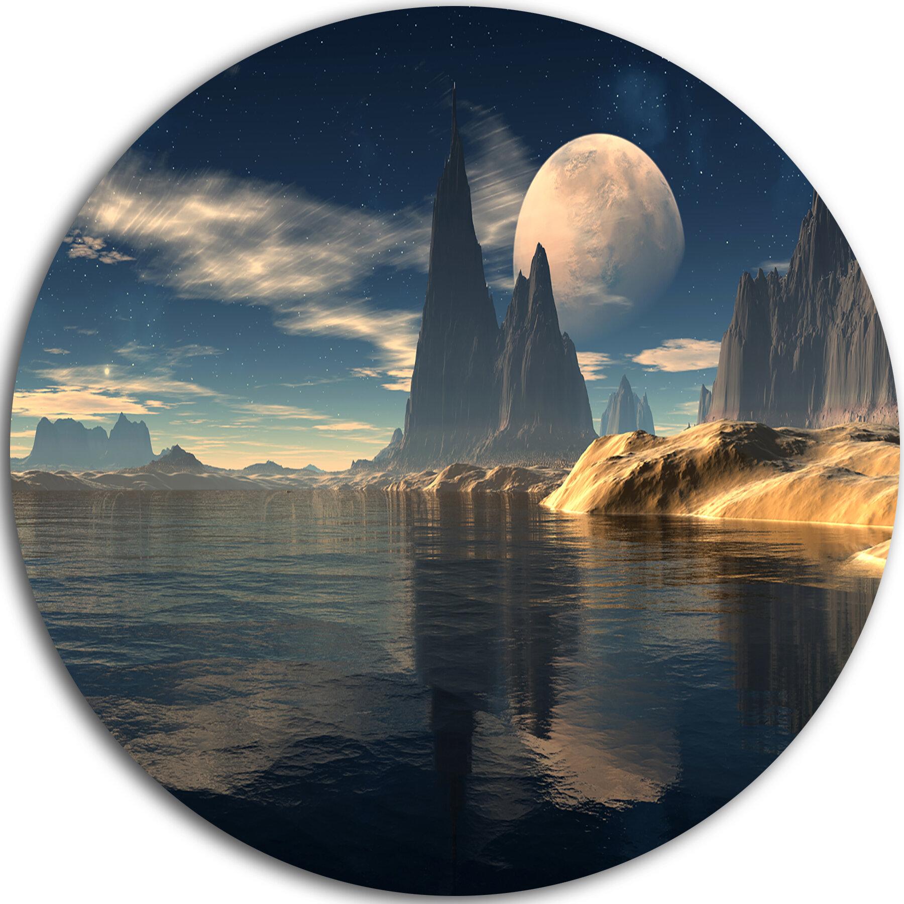 Designart Antara Alien Planet Photographic Print On Metal Wayfair