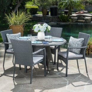 Brandon 5 Piece Dining Set with Cushion & Patio Dining Sets Youu0027ll Love | Wayfair
