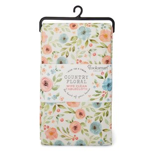Floral PVC Coated Tablecloth By Symple Stuff