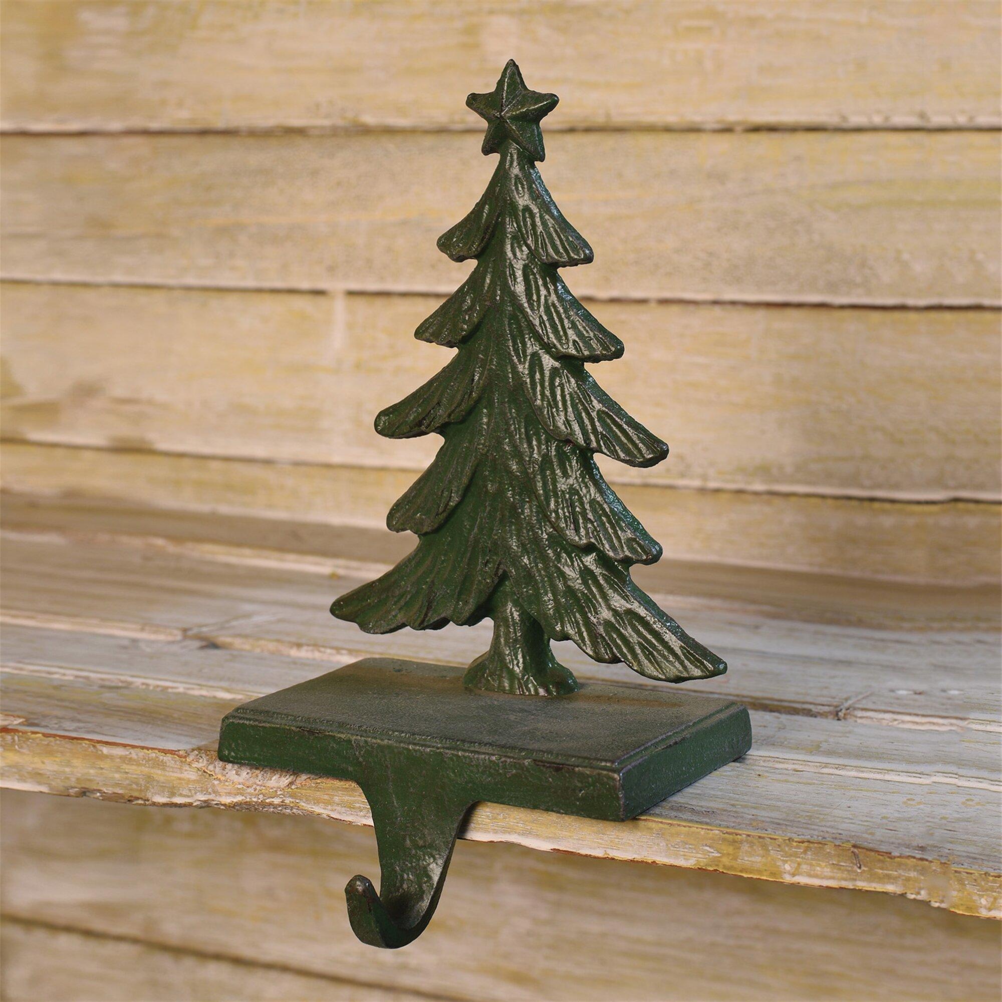 Christmas Tree Stocking Holder.Christmas Tree Cast Iron Stocking Holder