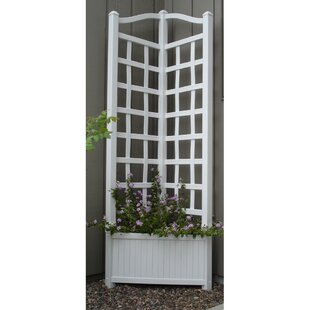Dura-Trel Oxford Planter Vinyl Lattice Panel Trellis