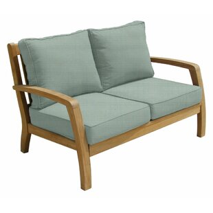 Douglas Nance Somerset Teak Loveseat with Sunbrella Cushions