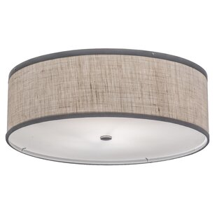 Rosecliff Heights Luyster 2-Light Outdoor Flush Mount