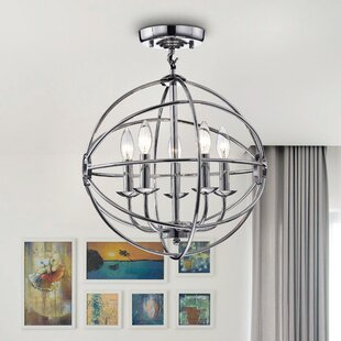 Coraline 5-Light Semi Flush Mount by Everly Quinn
