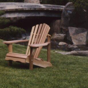 Western Red Cedar Adult Solid Wood Adirondack Chair by All Things Cedar