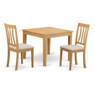 Cobleskill 3 Piece Dining Set by Alcott Hill Savings