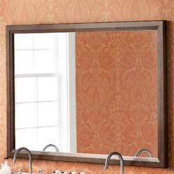 Ronbow Transitional 60 X 39 Solid Wood Framed Bathroom Mirror In