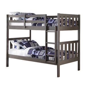 Wide Mission Twin Bunk Bed by Donco Kids