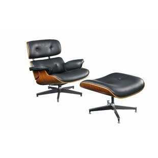 Corrigan Studio Geralyn Swivel Lounge Chair with Ottoman