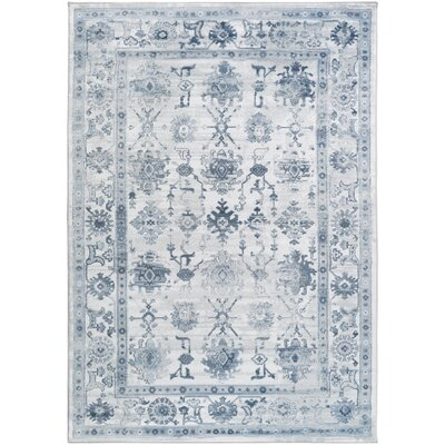 Three Posts Wesham Power-Loomed Navy/Blue Area Rug Rug Size: Rectangle 2'2 x 3'