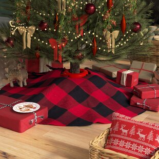 farmersville plaid cotton christmas tree skirt - Buffalo Christmas Decorations