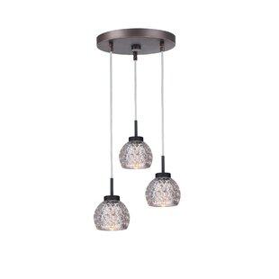 Wrought Studio Sadowski Modern 3-Light Cluster Pendant