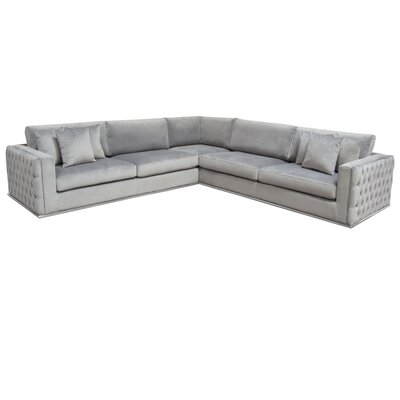 Envy Symmetrical Sectional Diamond Sofa