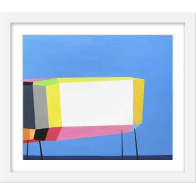 Wrought Studio 'California Surfer's House' Framed Graphic Art Print Size: 19.75 H x 23.75 W x 1.25 D