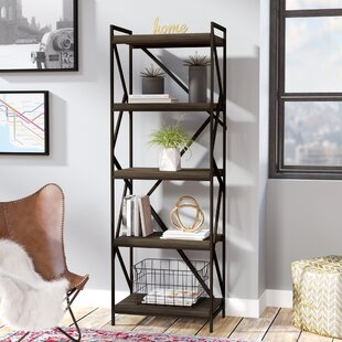 Reviews Derwood Metal Distressed Etagere Bookcase By Mercury Row