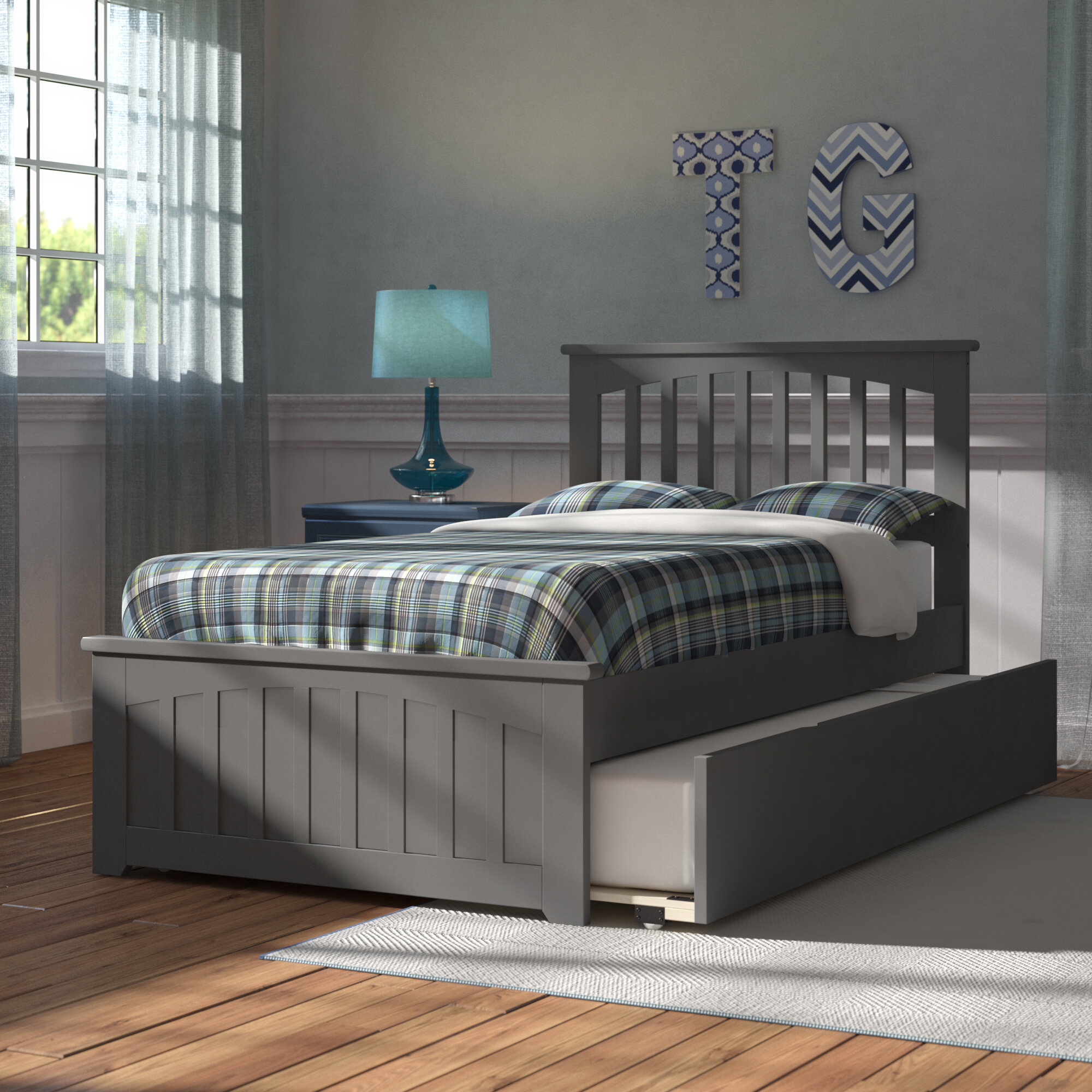 Viv Rae Piper Twin Platform Bed With Trundle Reviews Wayfair Ca