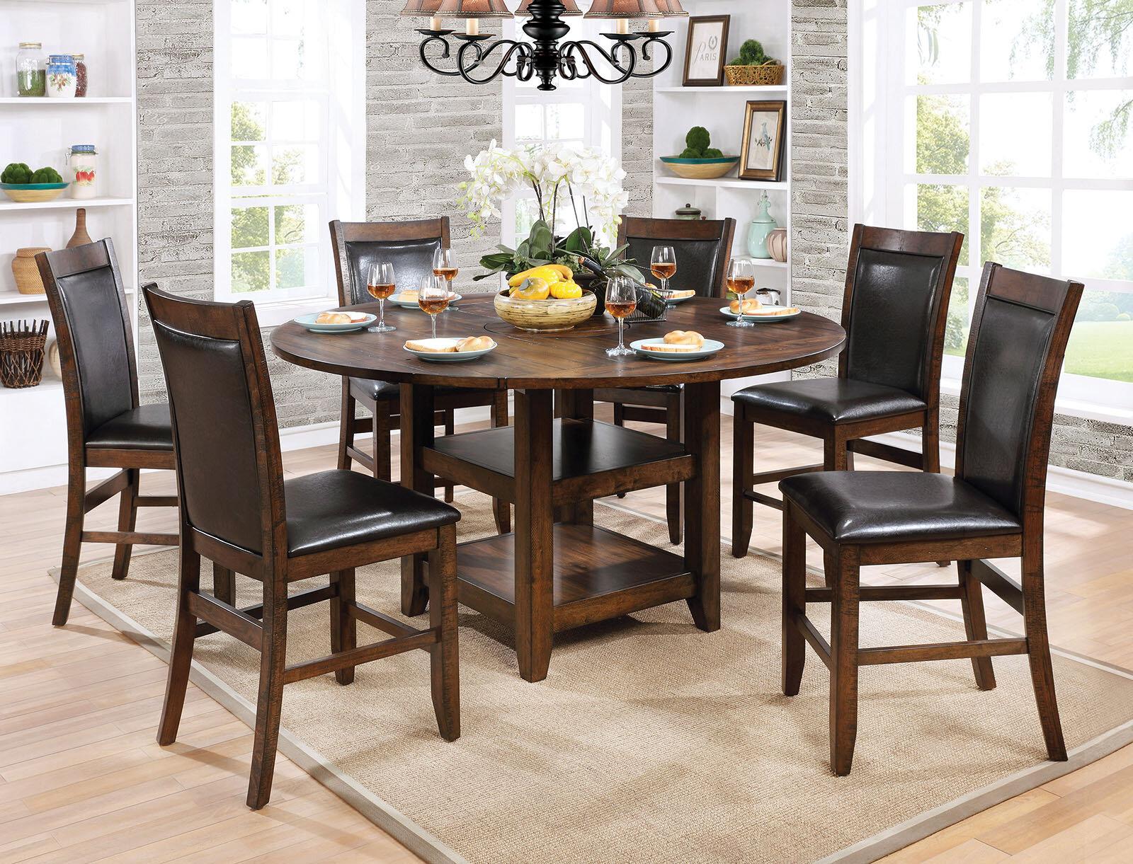 Loon Peak® Herbert 7 Piece Counter Height Drop Leaf Dining Set