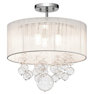 Laila 3-Light Semi-Flush Mount by Orren Ellis