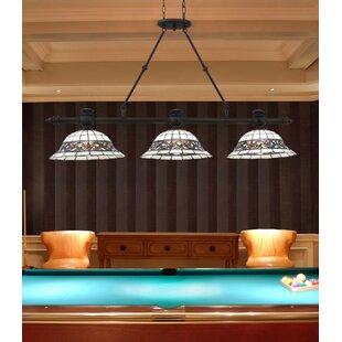 Gauguin Tiffany 3 Light Pool Table Light Pendant