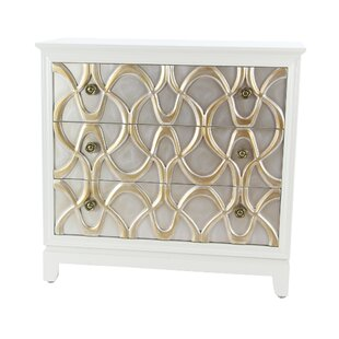 Alverez Modern Wood 3 Drawer Accent Cabinet by House of Hampton