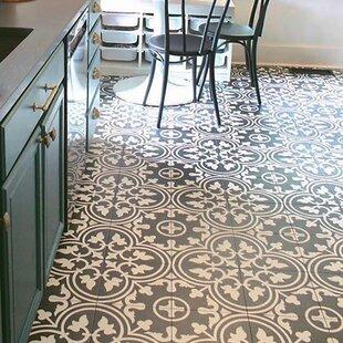 Artea 9.75 inch  x 9.75 inch  Porcelain Field Tile in Black/White