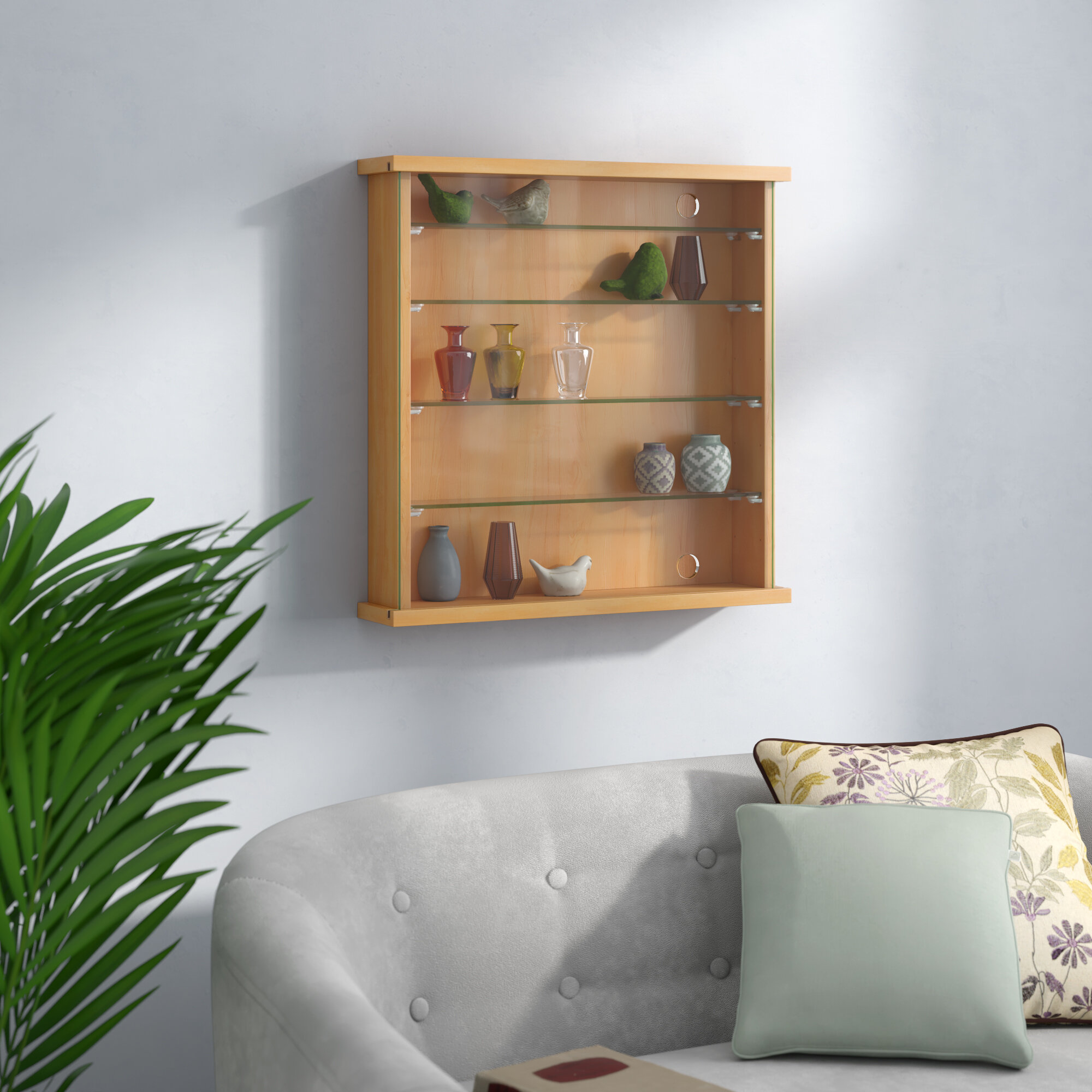 17 Stories Wall Mounted Display Cabinet Reviews Wayfair Co Uk