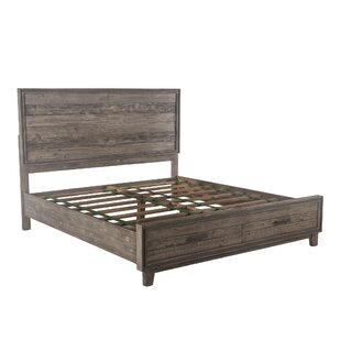 Clarita King Storage Panel Bed