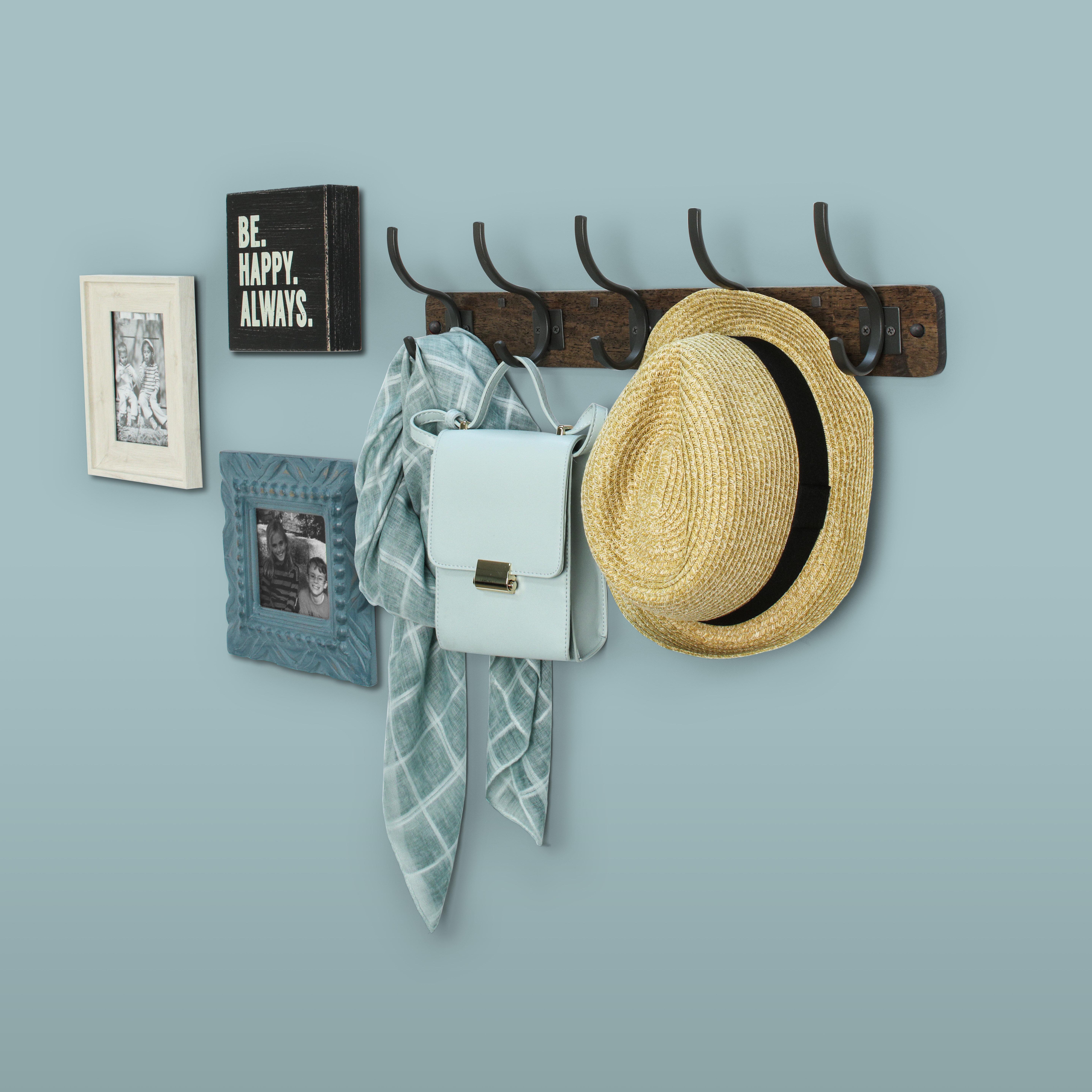 Industrial Style Metal Wall Hanging Hook Hangers coats hats handbags Rack