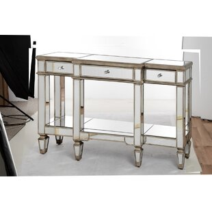 Conley Mirrored Display Console Table By Rosdorf Park