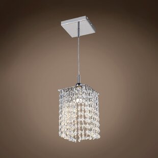 Alexa 1-Light Crystal Pendant by Everly Quinn