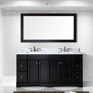 72 white bathroom vanity double sink. Girardeau 72  Double Bathroom Vanity Set with Mirror Vanities You ll Love Wayfair