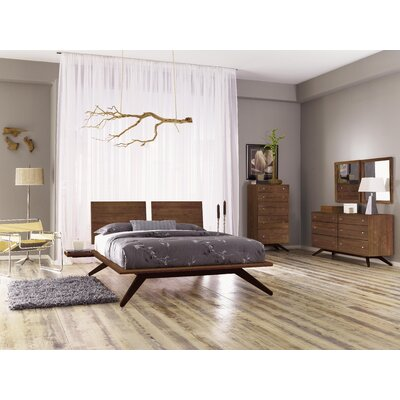 Copeland Furniture Astrid Platform Bed Color: Cognac Cherry, Size: Queen