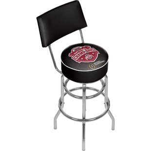 Ohio State University 31 Swivel Bar Stool Trademark Global