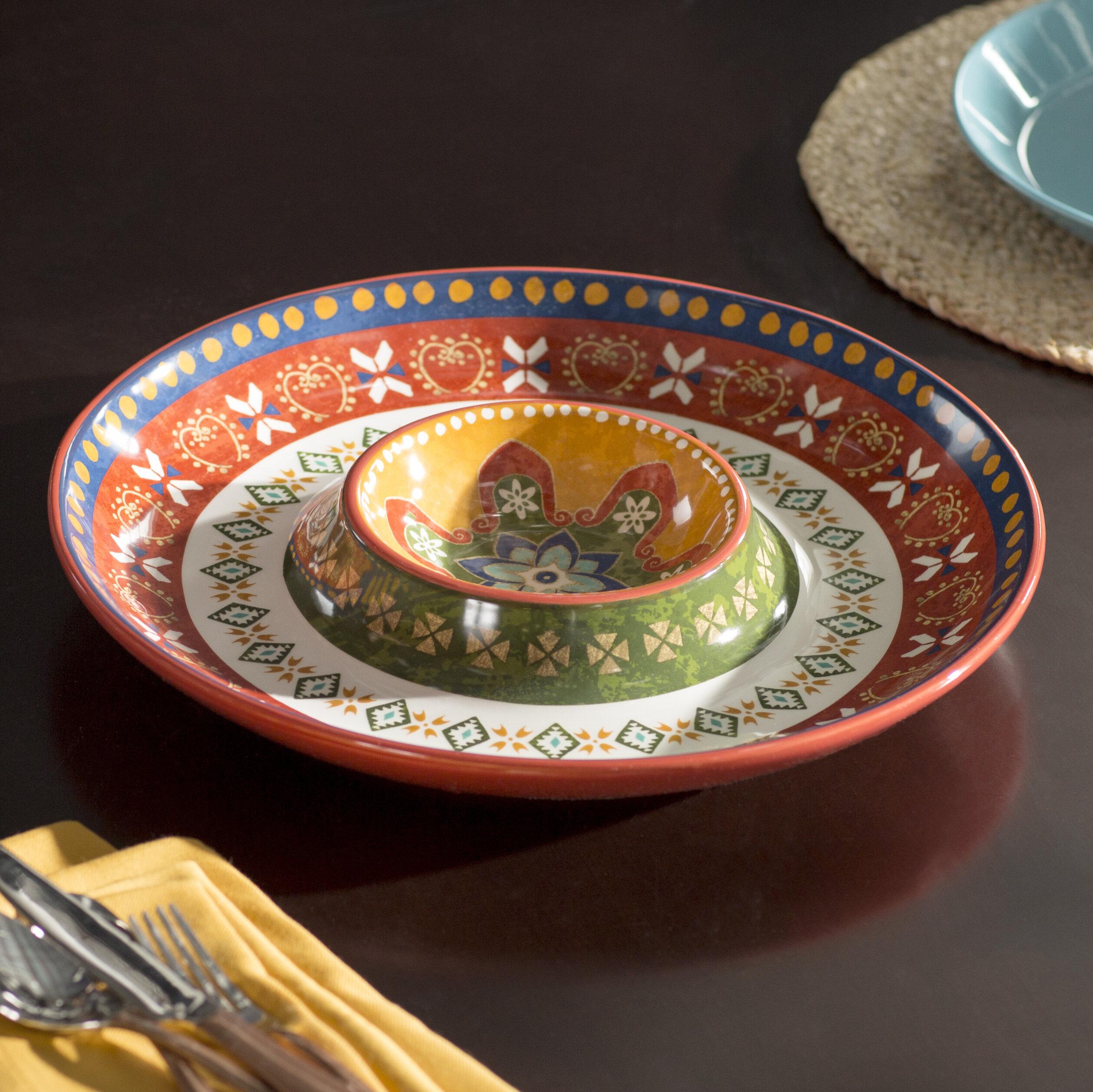 World Menagerie Brimson Chip And Dip Platter Reviews Wayfair Ca