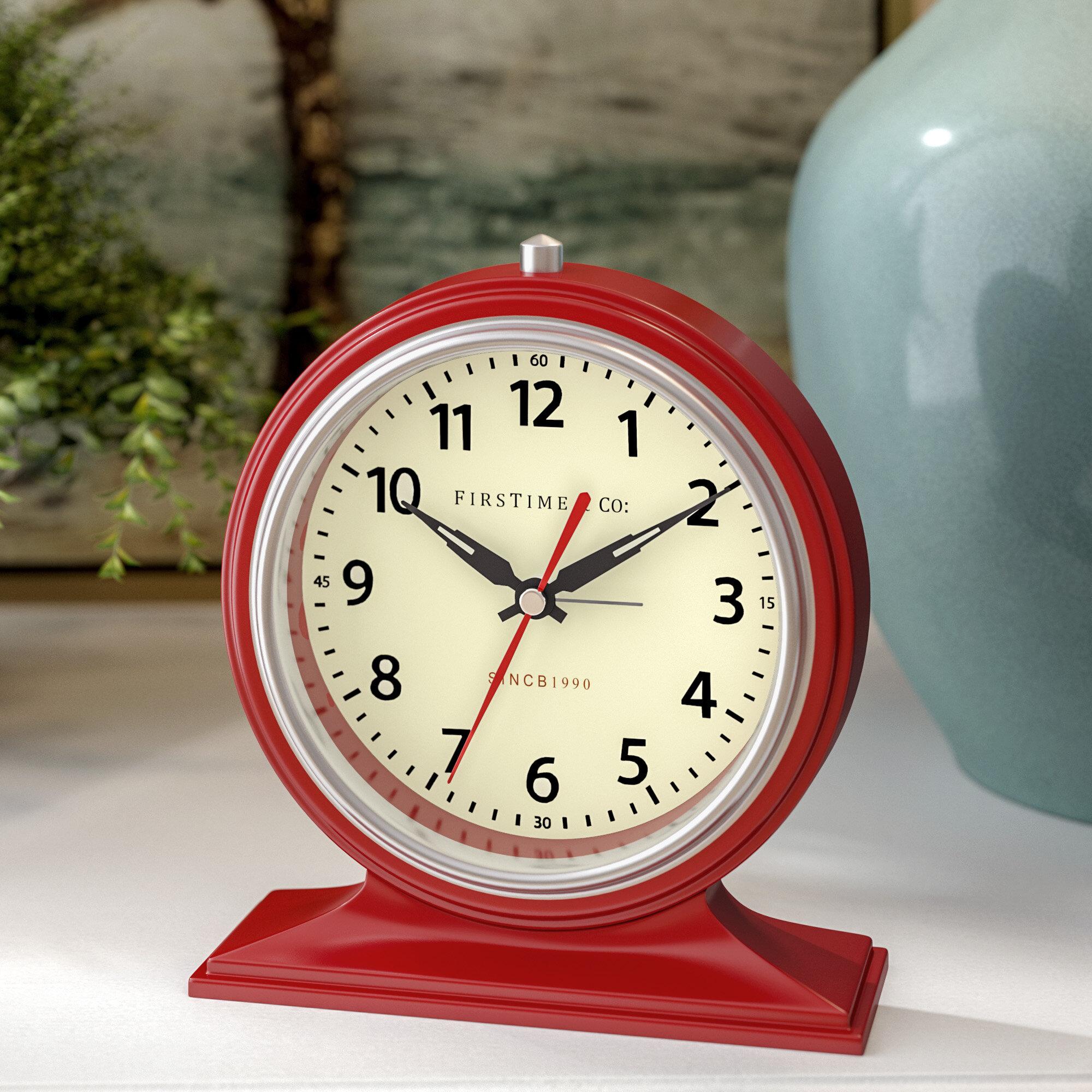 Beau Winston Porter Colorfully Awake Tabletop Clock U0026 Reviews | Wayfair