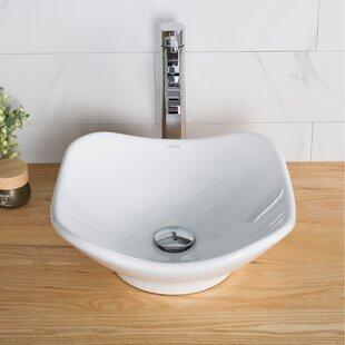 Order Elavo Ceramic Specialty Vessel Bathroom Sink with Overflow By Kraus