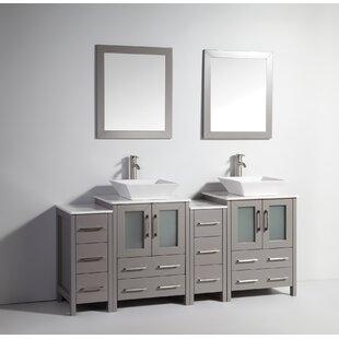 Melantha 72 Double Bathroom Vanity Set with Mirror by Brayden Studio