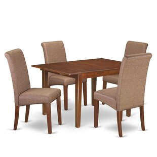 Miracle Kitchen Table 5 Piece Counter Height Extendable Solid Wood Dining Set Winston Porter