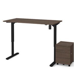 Symple Stuff Brisa 2 Piece Electric Height Adjustable Desk Office Suite