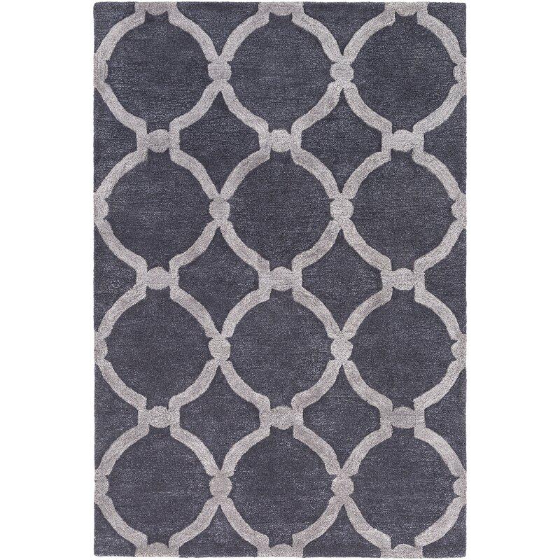 Laurel Foundry Modern Farmhouse Labastide Geometric Handmade Tufted Wool Purple Area Rug Reviews Wayfair