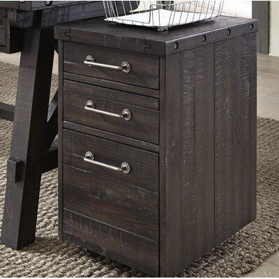Langsa Wood 3 Drawer Vertical Filing Cabinet